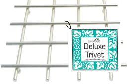 12 Units of Heavy Duty Satin Nickel Deluxe Trivet - Coasters & Trivets