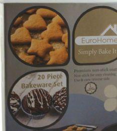 4 Units of 20 Piece Bakeware Set - Baking Supplies