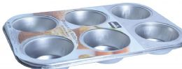 24 Units of Tinplated 6 Muffin Pan - Frying Pans and Baking Pans