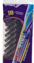 120 Units of 10 Pack Disposable Twin Blade Man Razors Stainless Steel - Shaving Razors