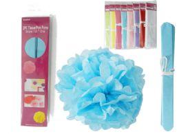 72 Units of 2 Piece Tissue Pom Pom - Craft Kits