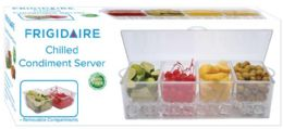 4 Units of Acrylic Chilled Condiment Server - Serving Trays