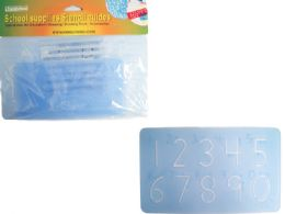 144 Units of 2 Piece School Stencils - Craft Tools
