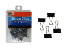 96 Units of 15 Piece Binder Clips - Clips and Fasteners