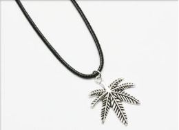 96 Units of Wholesale Leaf Cord Necklace - Necklace