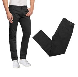 36 Units of Men's 5-Pocket Ultra-Stretch Skinny Fit Chino Pants Black - Mens Pants