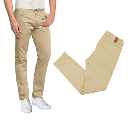 36 Units of Men's 5-Pocket UltrA-Stretch Skinny Fit Chino Pants Khaki - Mens Pants
