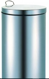 2 Units of Stainless Steel Step Trash Can - Waste Basket