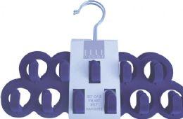 16 Units of Velvet Belt Hanger Assorted Colors - Hangers