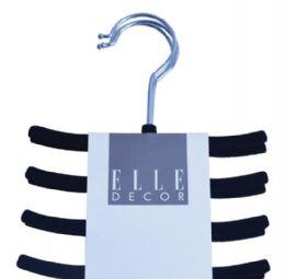 12 Units of Velvet Belt Hanger Assorted Colors - Hangers