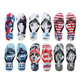 96 Units of Men's Printed Nyc Printed Flip Flops - Men's Flip Flops and Sandals