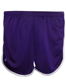 36 Units of Women's Russell Athletic Active Shorts In Purple And White,size Large - Womens Shorts