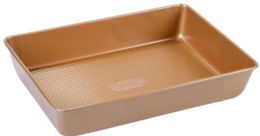 12 Units of Non Stick Baking Pan Copper Finish - Frying Pans and Baking Pans