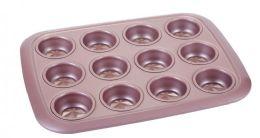 12 Units of Non Stick Cupcake Pan Rose Gold - Frying Pans and Baking Pans