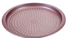 12 Units of Non Stick Crispy Pizza Pan Rose Gold - Frying Pans and Baking Pans