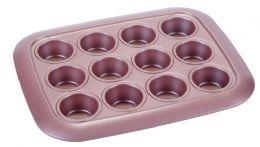 12 Units of Non Stick Mini Cupcake Pan Rose Gold - Frying Pans and Baking Pans