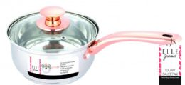 6 Units of Sauce Pan Stainless Steel Rose Gold - Pots & Pans