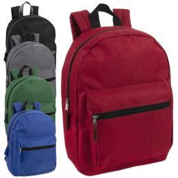"24 Units of 15 Inch Basic Backpack - Backpacks 15"" or Less"
