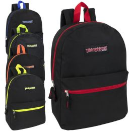 """24 Units of 17 Inch Backpack - 5 Pop Colors - Backpacks 17"""""""