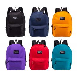 """24 Units of 17"""" Backpacks in 6 Assorted Colors - Backpacks 17"""""""