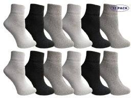 12 Units of Yacht & Smith Mens & Womens Ankle Wholesale Bulk Pack Athletic Sports Socks, By Socks'nbulk (womens 9-11 (shoe Size 5-10), 12 Pairs Mix) - Womens Ankle Sock