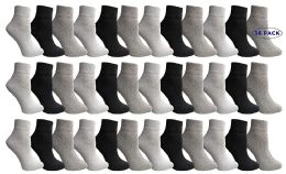 36 Units of Yacht & Smith Mens & Womens Ankle Wholesale Bulk Pack Athletic Sports Socks, by SOCKS'NBULK (Womens 9-11 (Shoe size 5-10), 36 Pairs Mix) - Womens Ankle Sock