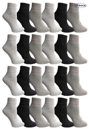 24 Units of Yacht & Smith Wholesale Bulk Womens Mid Ankle Socks, Cotton Sport Athletic Socks - Assorted, 24 Pairs - Womens Ankle Sock