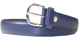36 Units of Kids Genuine Leather Fashion Belts In Blue - Belts