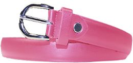 36 Units of Kids Genuine Leather Fashion Belts In Pink - Belts