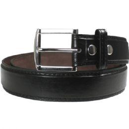 36 Units of Men Black Fashion Belt Genuine Leather - Mens Belts