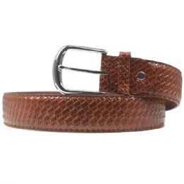 36 Units of Mens Brown Braided Belt - Mens Belts
