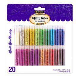 72 Units of BAZIC 2g Glitter Tubes (20/Pack) - Craft Glue & Glitter