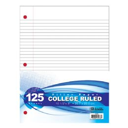 48 Units of BAZIC C/R 125 Ct. Filler Paper - Paper