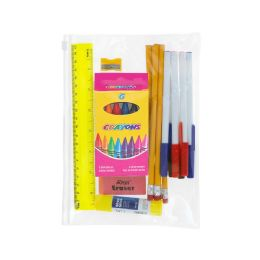 48 Units of 17 Piece Wholesale Kids School Supplies Kit - School Supply Kits