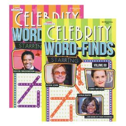 48 Units of Kappa Celebrity Word Finds Puzzle Book - Crosswords, Dictionaries, Puzzle books