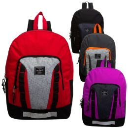 """24 Units of 17"""" Sport Backpack in 4 Assorted Colors - Backpacks 17"""""""