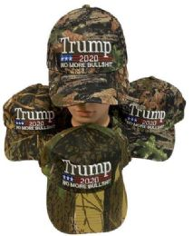 36 Units of Trump 2020 No More Bullshit Hardwood Camo Assorted - Signs & Flags