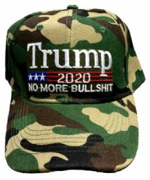 24 Units of Adjustable Baseball Hat Trump 2020 No More Bullshit - Baseball Caps & Snap Backs
