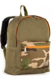 "30 Units of Everest Basic Color Block Backpack In Olive Camo - Backpacks 15"" or Less"