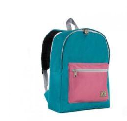 """30 Units of Everest Basic Color Block Backpack In Dark Teal Marsala - Backpacks 15"""" or Less"""