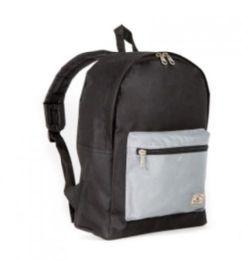 """30 Units of Everest Basic Color Block Backpack In Black & Grey - Backpacks 15"""" or Less"""