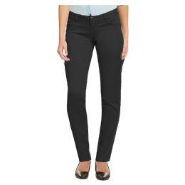 12 Units of Women's Cotton Skinny Chino Pencil Stretch Pants Black Size 4 - Womens Pants