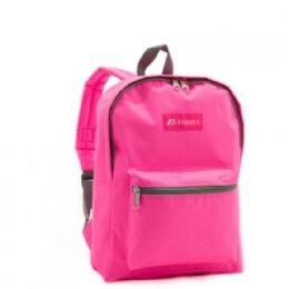 "30 Units of Everest Basic Color Block Backpack In Candy Pink - Backpacks 15"" or Less"