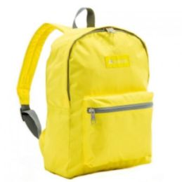 "30 Units of Everest Basic Color Block Backpack In Yellow - Backpacks 15"" or Less"