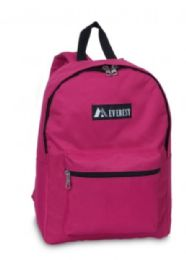 "30 Units of Everest Basic Color Block Backpack In Hot Pink - Backpacks 15"" or Less"