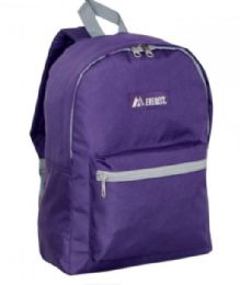 "30 Units of Everest Basic Color Block Backpack In Eggplant - Backpacks 15"" or Less"