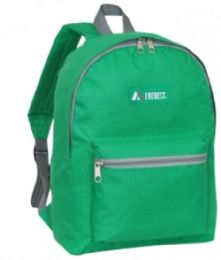 "30 Units of Everest Basic Color Block Backpack In Emerald Green - Backpacks 15"" or Less"