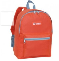 "30 Units of Everest Basic Color Block Backpack In Rust Orange - Backpacks 15"" or Less"