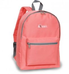"30 Units of Everest Basic Color Block Backpack In Coral - Backpacks 15"" or Less"