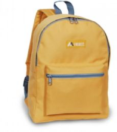 """30 Units of Everest Basic Color Block Backpack In Yellow - Backpacks 15"""" or Less"""